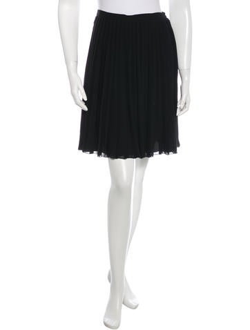 Christian Dior Pleated Silk Skirt