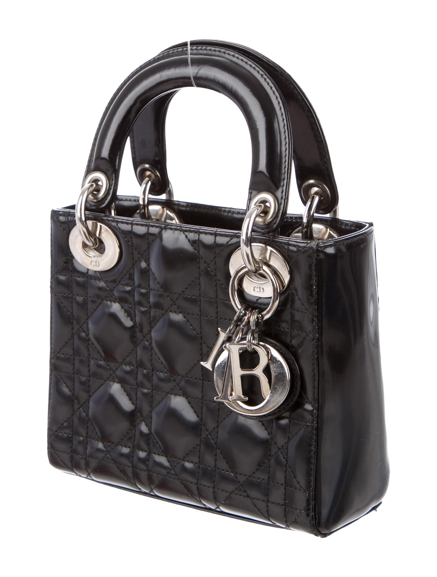 christian dior mini lady dior bag handbags chr44621 the realreal. Black Bedroom Furniture Sets. Home Design Ideas