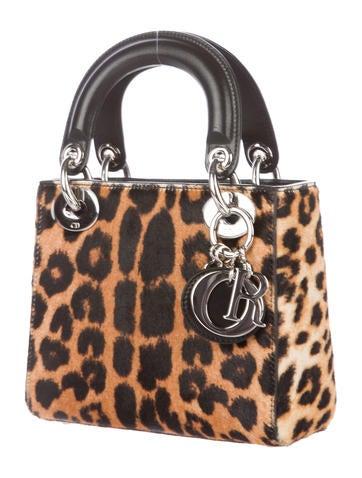Leopard-Printed Ponyhair Mini Lady Dior