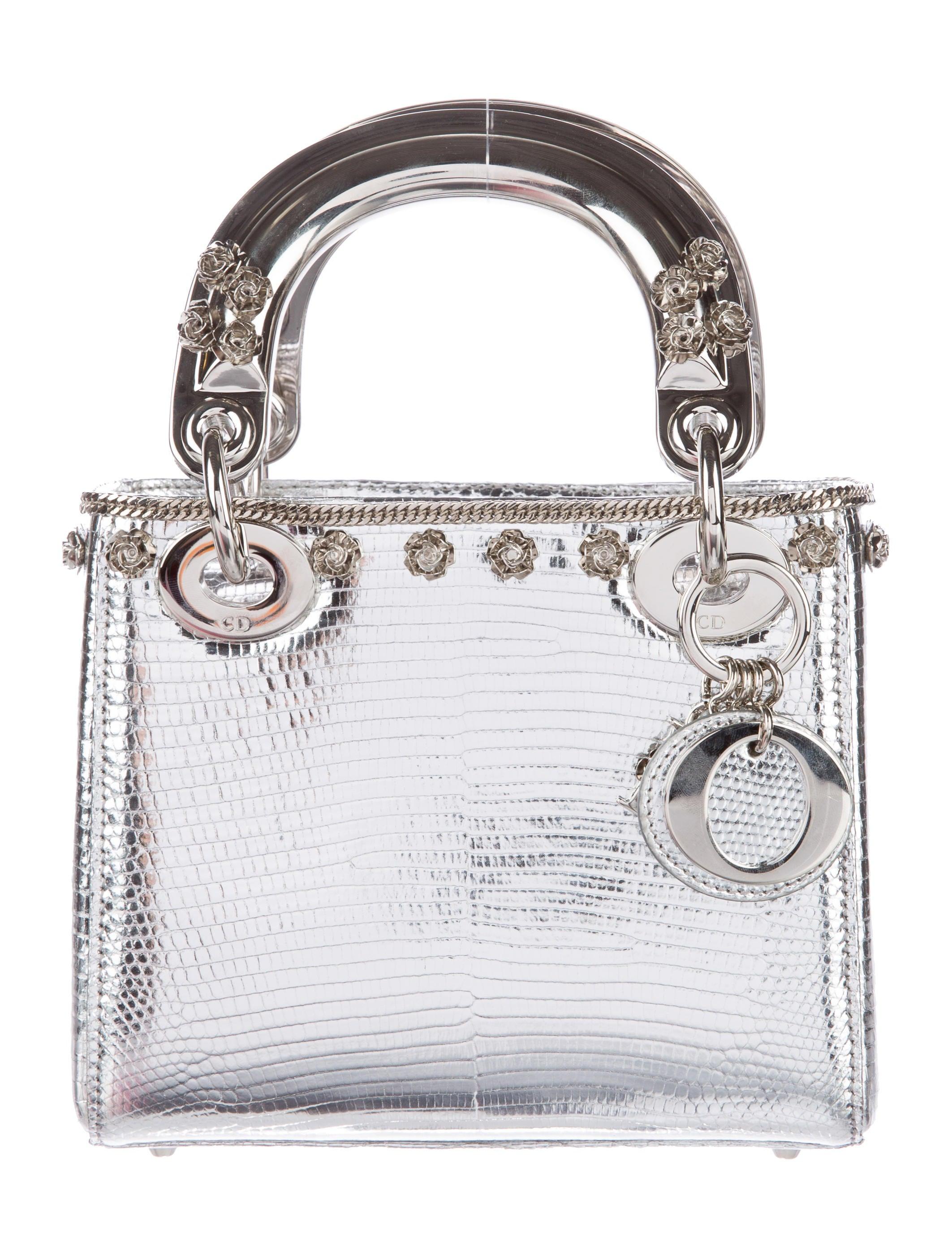christian dior mini lizard lady dior bag handbags chr44684 the realreal. Black Bedroom Furniture Sets. Home Design Ideas