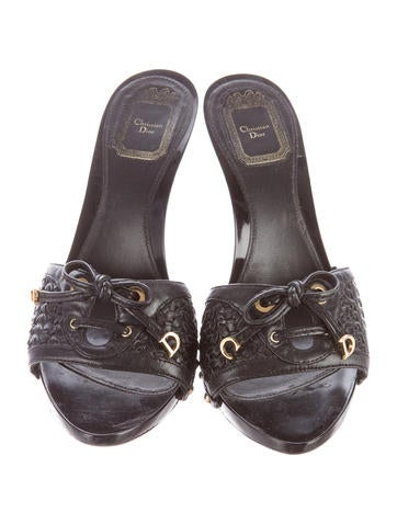 christian braided leather slide sandals shoes