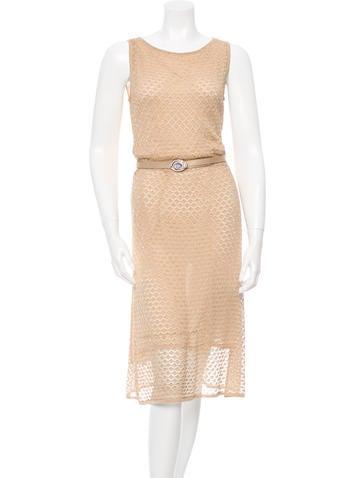 Christian Dior Metallic Knit Dress None