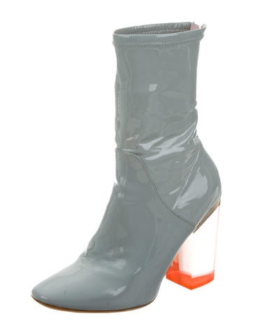 Lucite Ankle Boots