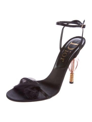 Mesh Satin Sandals
