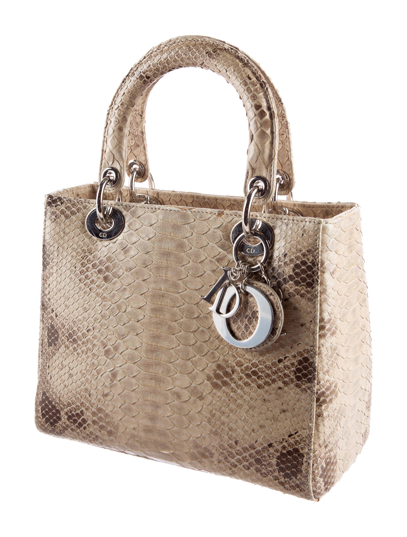 lady dior python medium bag
