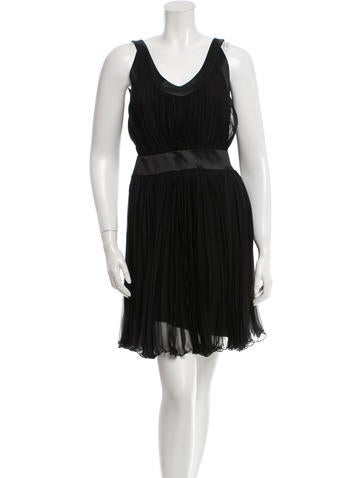 Christian Dior Pleated Mini Dress None