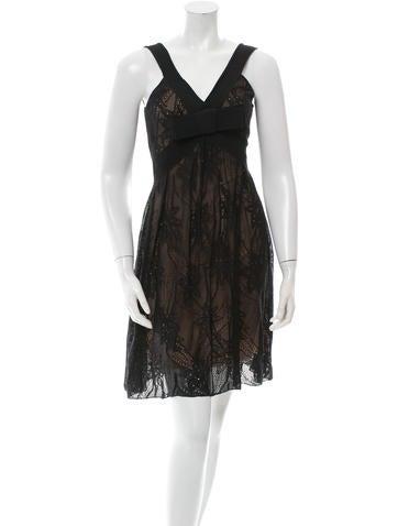 Christian Dior Sleeveless Silk & Lace Dress None