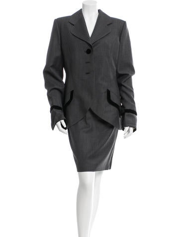 Christian Dior Wool-Blend Pencil Skirt Suit