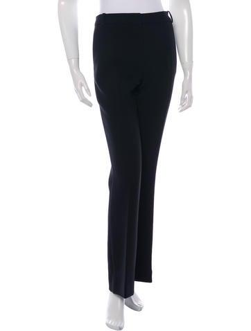 Christian Dior Wide-Leg Wool Pants None