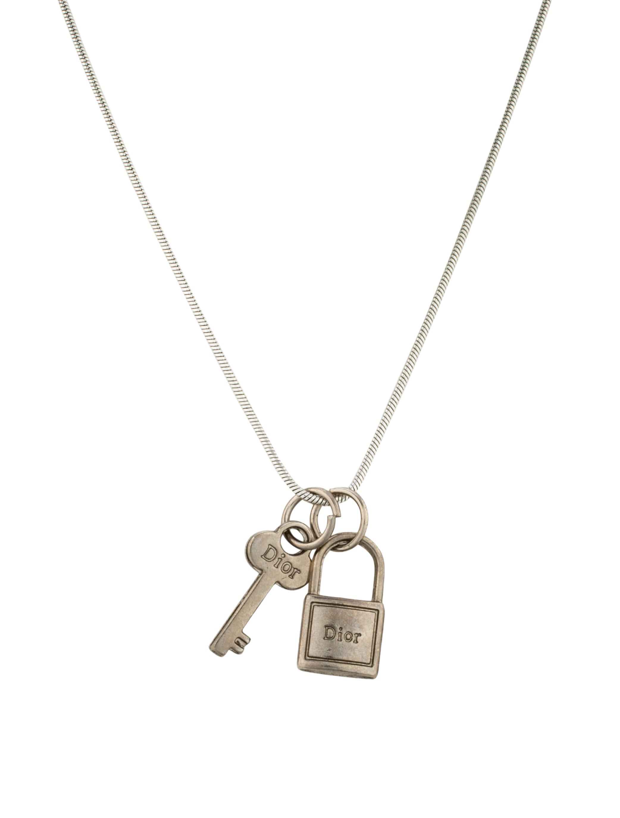 Christian Dior Lock Amp Key Necklace Necklaces Chr46273