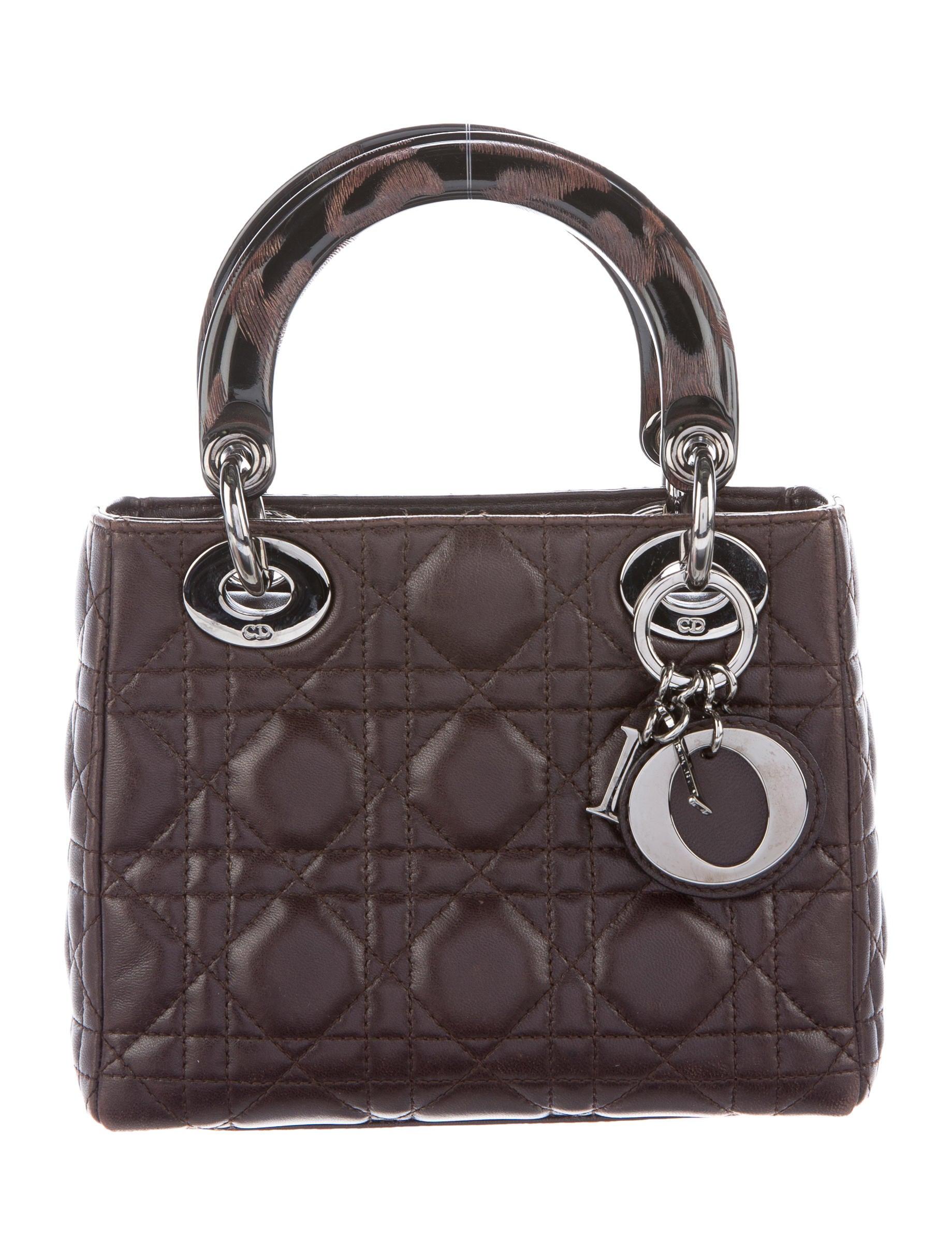 christian dior cannage mini lady dior bag handbags chr46372 the realreal. Black Bedroom Furniture Sets. Home Design Ideas