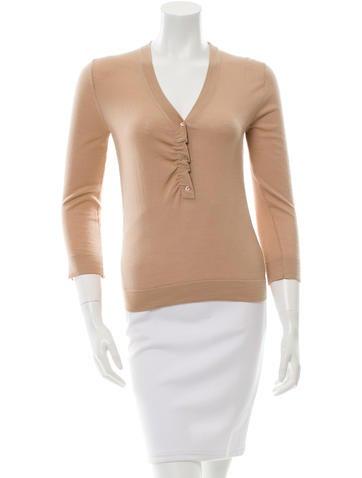 Christian Dior Cashmere & Silk-Blend Sweater None