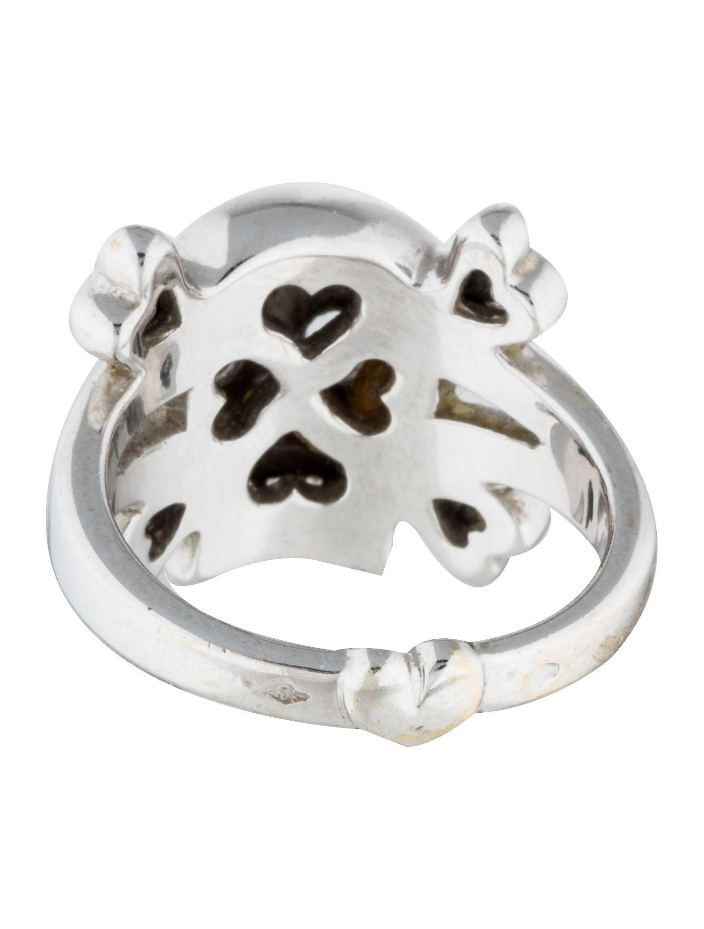 christian 18k tete de mort skull ring rings