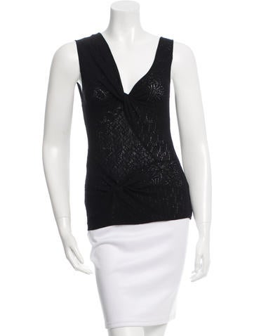 Christian Dior Eyelet Wool Top None