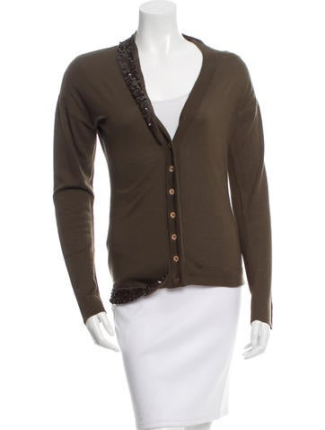 Christian Dior Wool Embellished Cardigan None