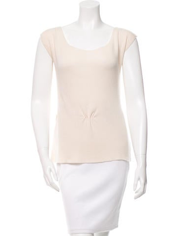 Christian Dior Cashmere & Silk-Blend Belted Top None