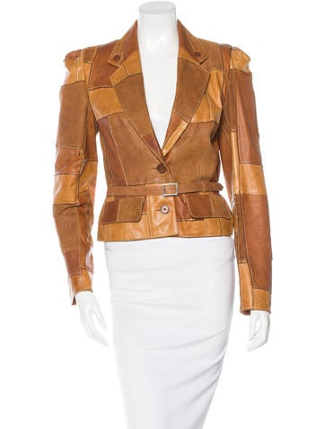 Christian Dior Patchwork Leather Jacket