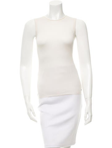 Christian Dior Cashmere & Silk-Blend Top w/ Tags None