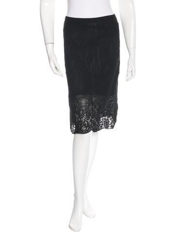 Christian Dior Eyelet Knee-Length Skirt None