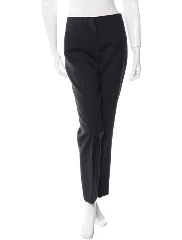 Christian Dior Wool Flat Front Pants None