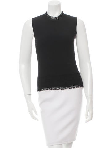 Christian Dior Textured Wool Top None