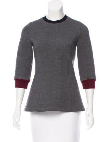 Christian Dior Neoprene Crew Neck Top None