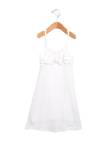 Christian Dior Girls' Knit Bow-Adorned Dress None