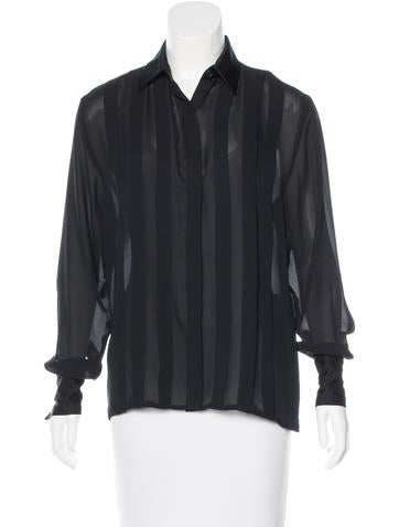 Christian Dior Pleated Button-Up Top None