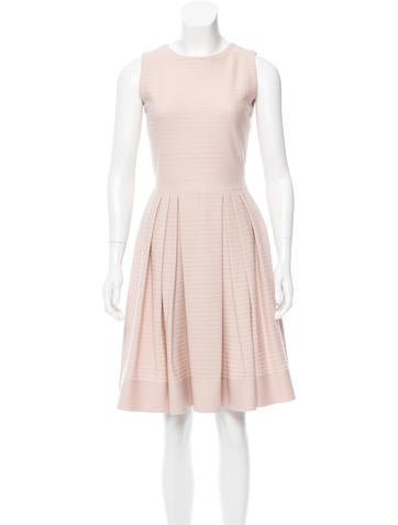 Christian Dior Knit Pleated Dress None