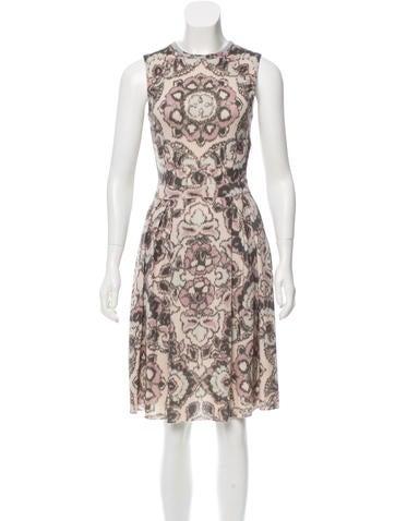 Christian Dior Wool & Silk-Blend Printed Dress None