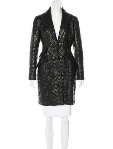 Christian Dior Cannage Leather Coat