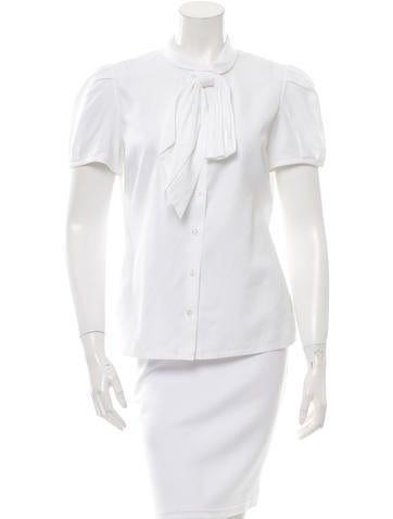 Christian dior bow button up top clothing chr47906 for Christian dior button up shirt