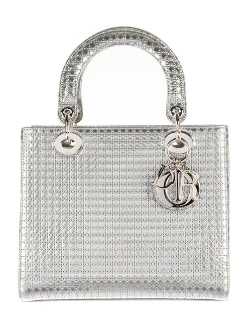 6be505527b Christian Dior Metallic Perforated Medium Lady Dior Bag - Handbags ...