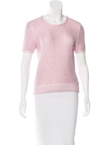 Christian Dior Metallic Knit Top None