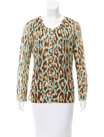 Christian Dior Printed Wool-Blend Cardigan None