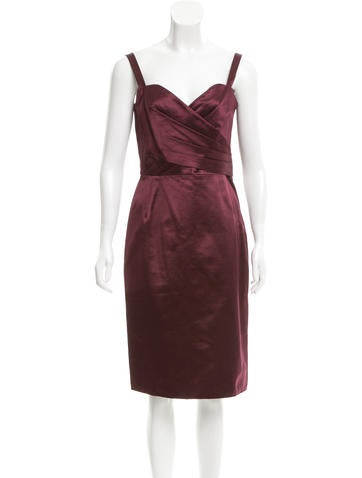 Christian Dior Pleated Satin Dress None