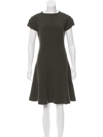 Christian Dior A-Line Wool Dress None