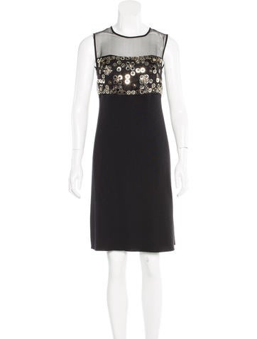 Christian Dior Embellished Knee-Length Dress None