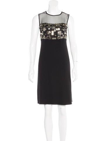 Christian Dior Embellished Knee-Length Dress None