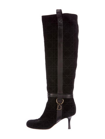 Christian Dior Cannage Suede Boots