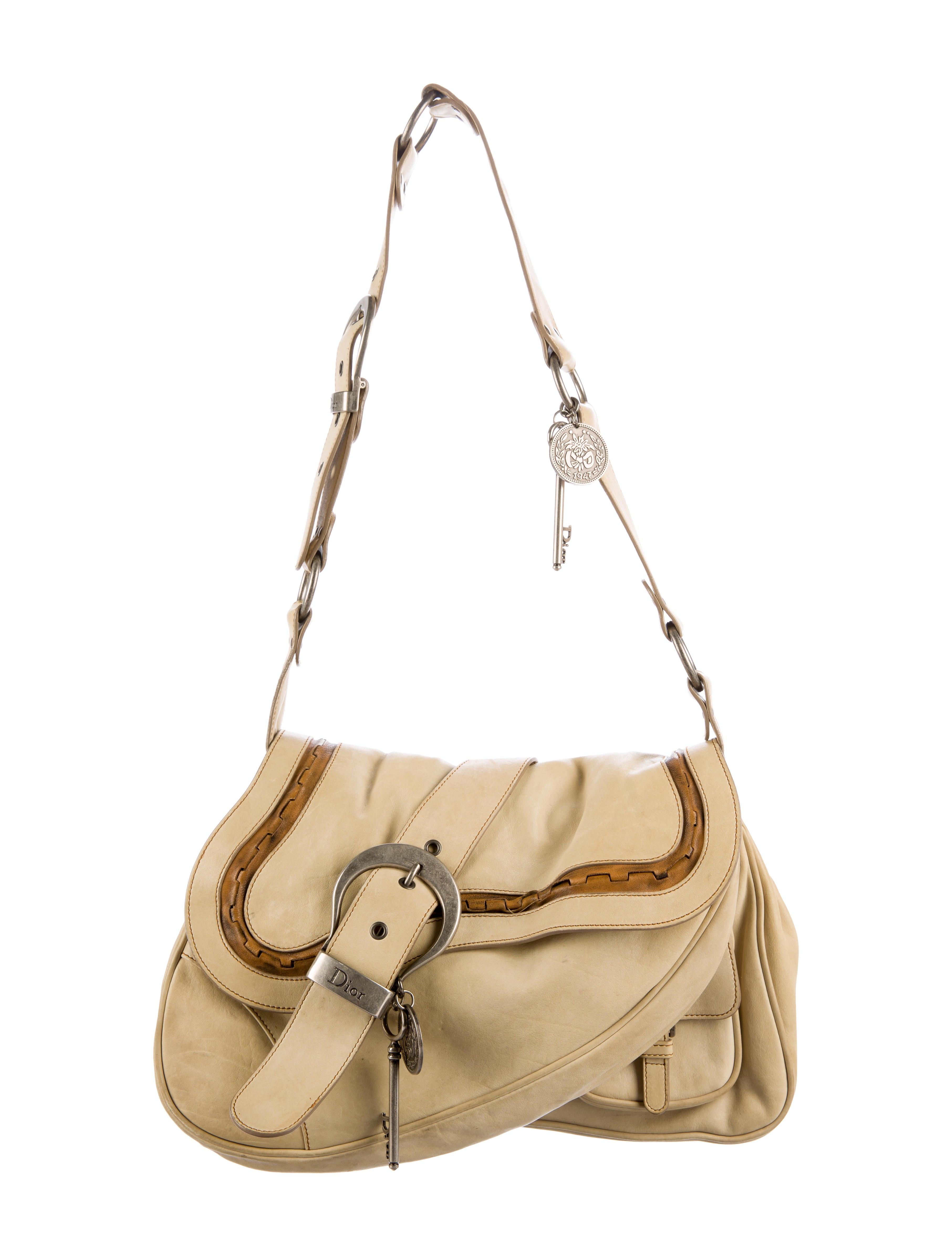 7a80c07a4a19 Christian Dior Gaucho Double Saddle Bag - Handbags - CHR48625