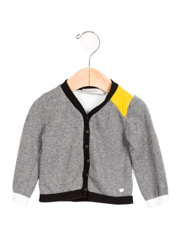 Christian Dior Boys' Colorblock Knit Cardigan None