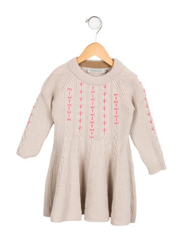 Christian Dior Girls' Wool Flared Dress None