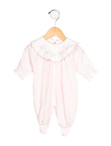 Christian Dior Girls' Embroidered Long Sleeve All-In-One None