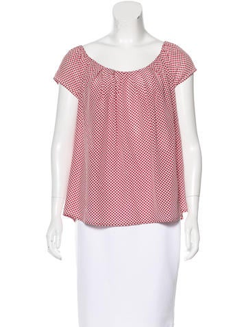 Christian Dior Silk Polka Dot Top None