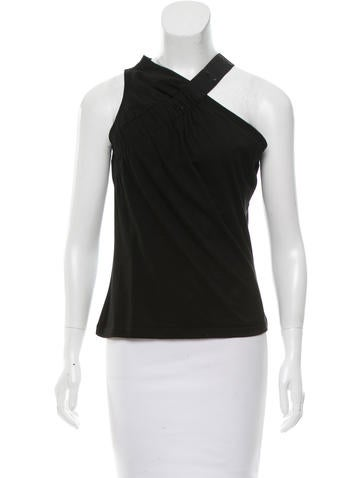 Christian Dior Ruched Sleeveless Top None