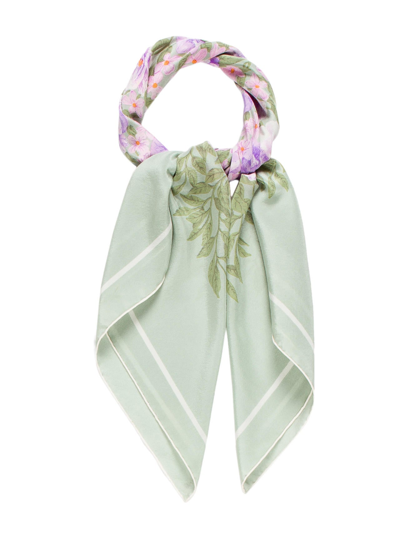 christian floral silk scarf accessories chr49538
