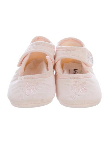 Girls' Embroidered Crib Shoes