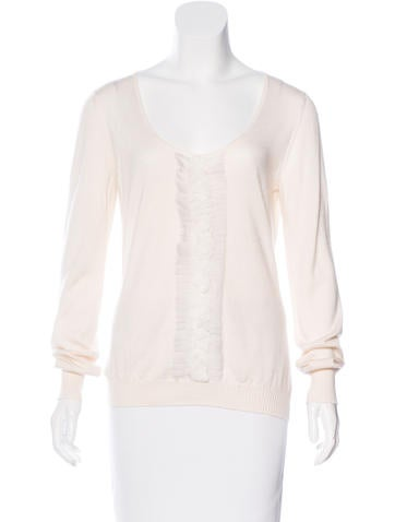 Christian Dior Cashmere & Silk-Blend Sweater None
