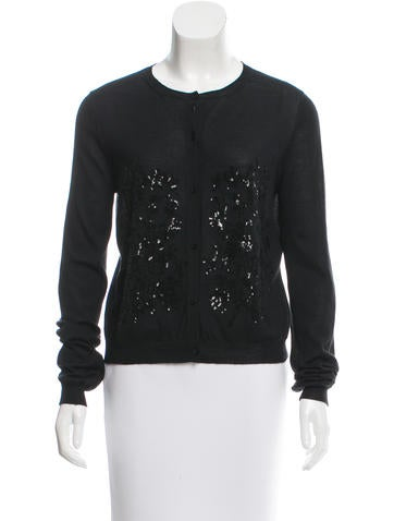 Christian Dior Sequin-Accented Cashmere Cardigan None